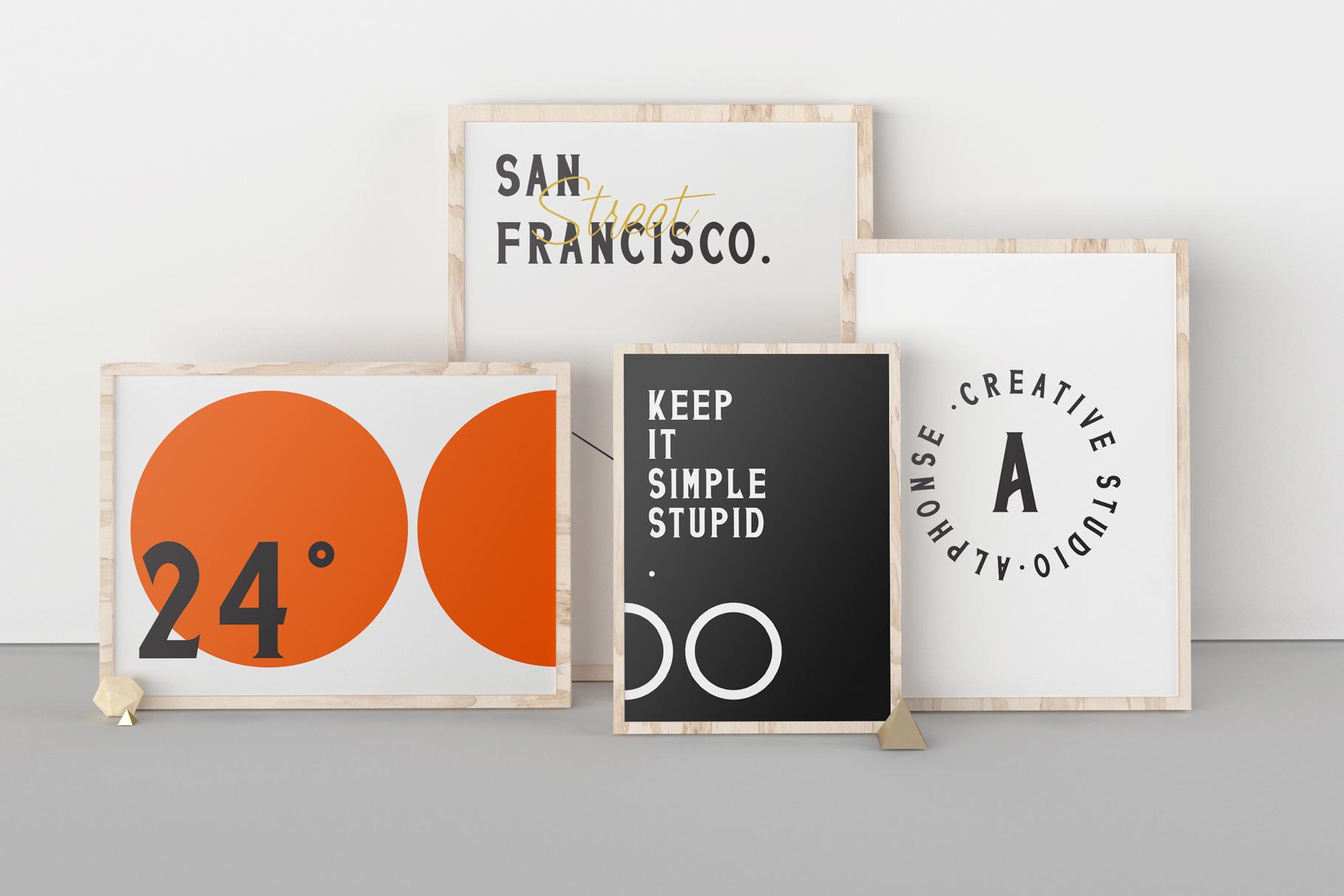 San Francisco Street Font Duo example image 12