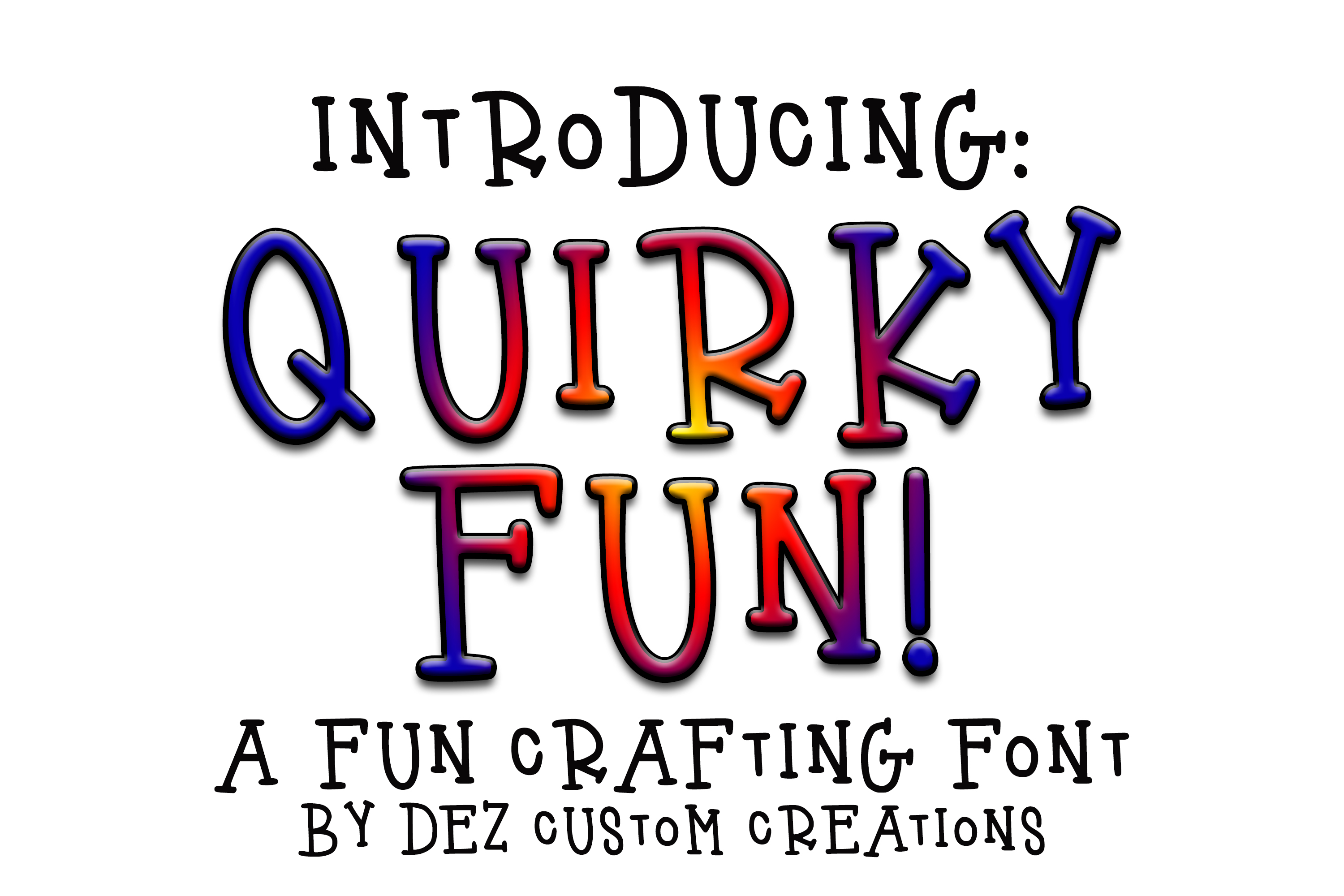 Quirky Fun - Hand Lettered Serif Font example image 1