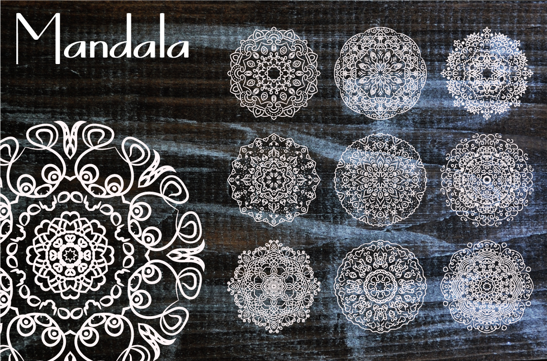 10 Mandala Henna Tattoo Ornaments example image 1