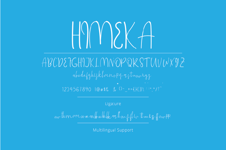 Himeka - A Handwritten Font example image 5