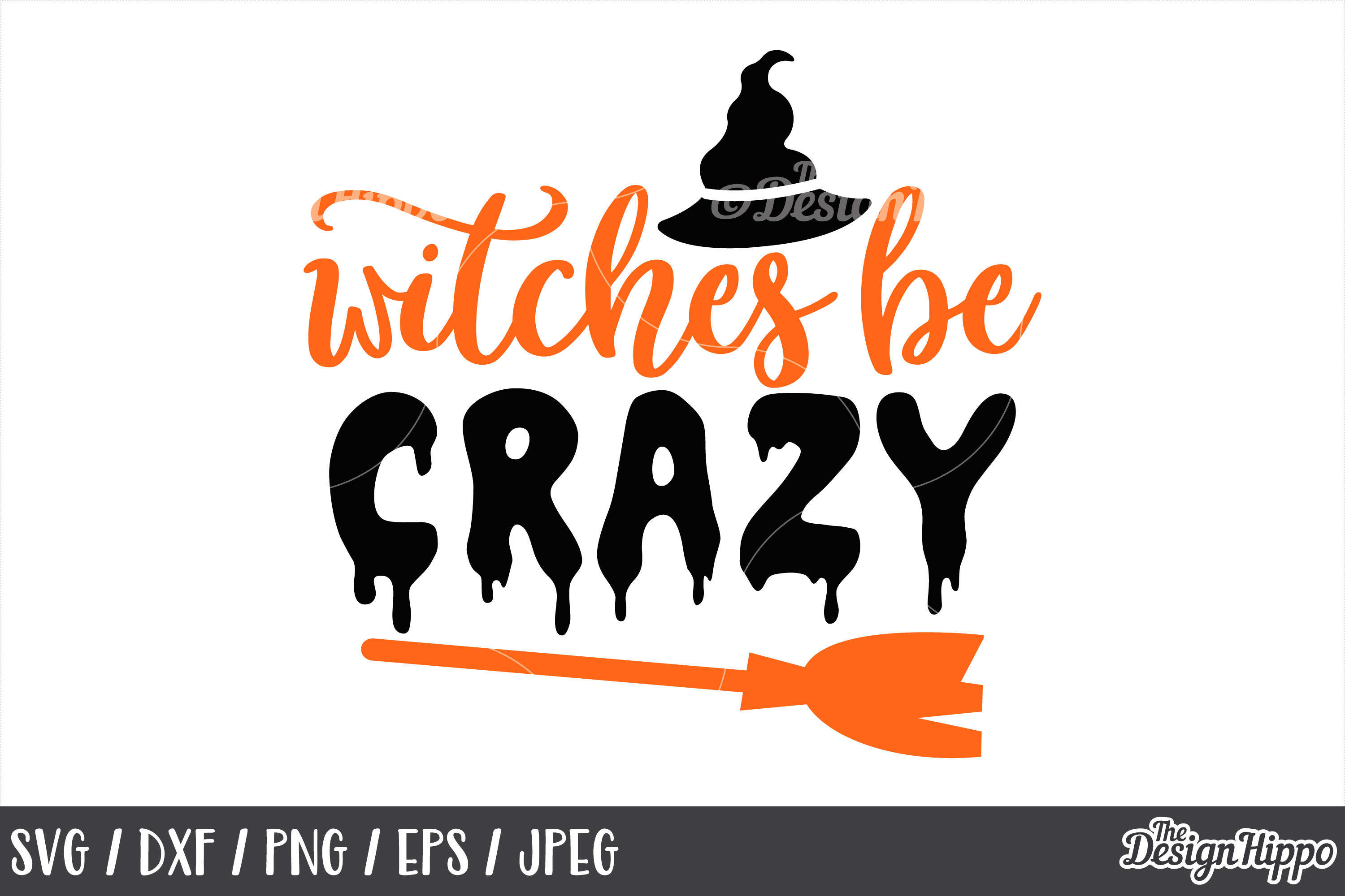 Witches be crazy SVG, Halloween, Witch hat, Broom, SVG, PNG example image 1