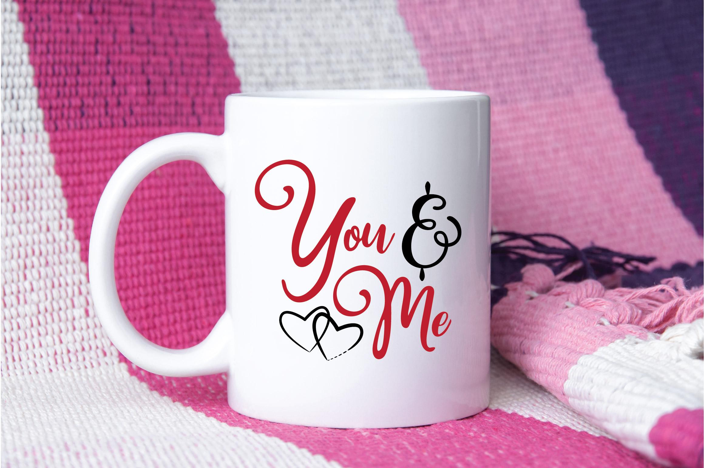 You & Me SVG Cut File - Valentine SVG EPS DXF PNG PDF AI example image 4