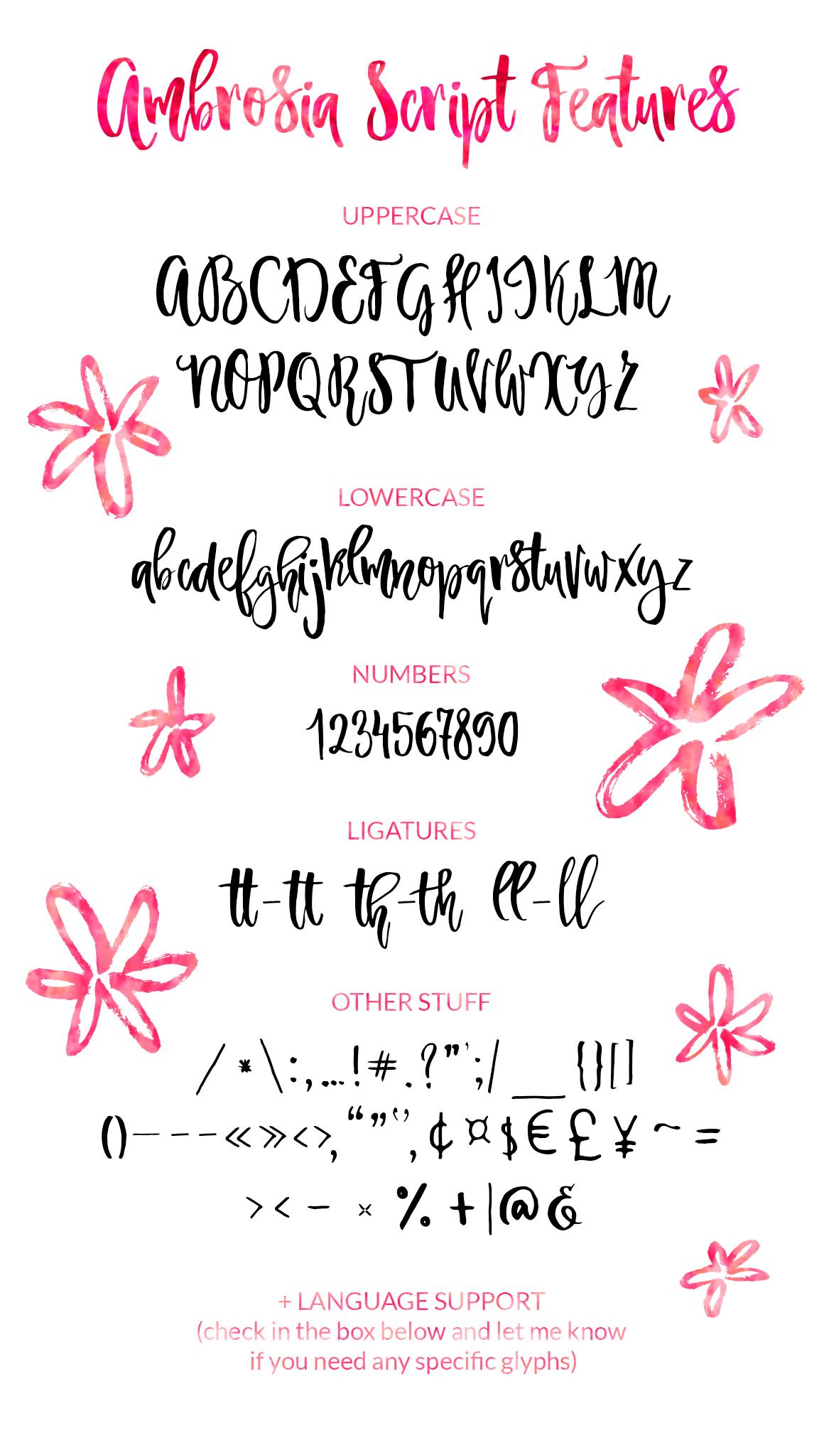 Ambrosia Script example image 4