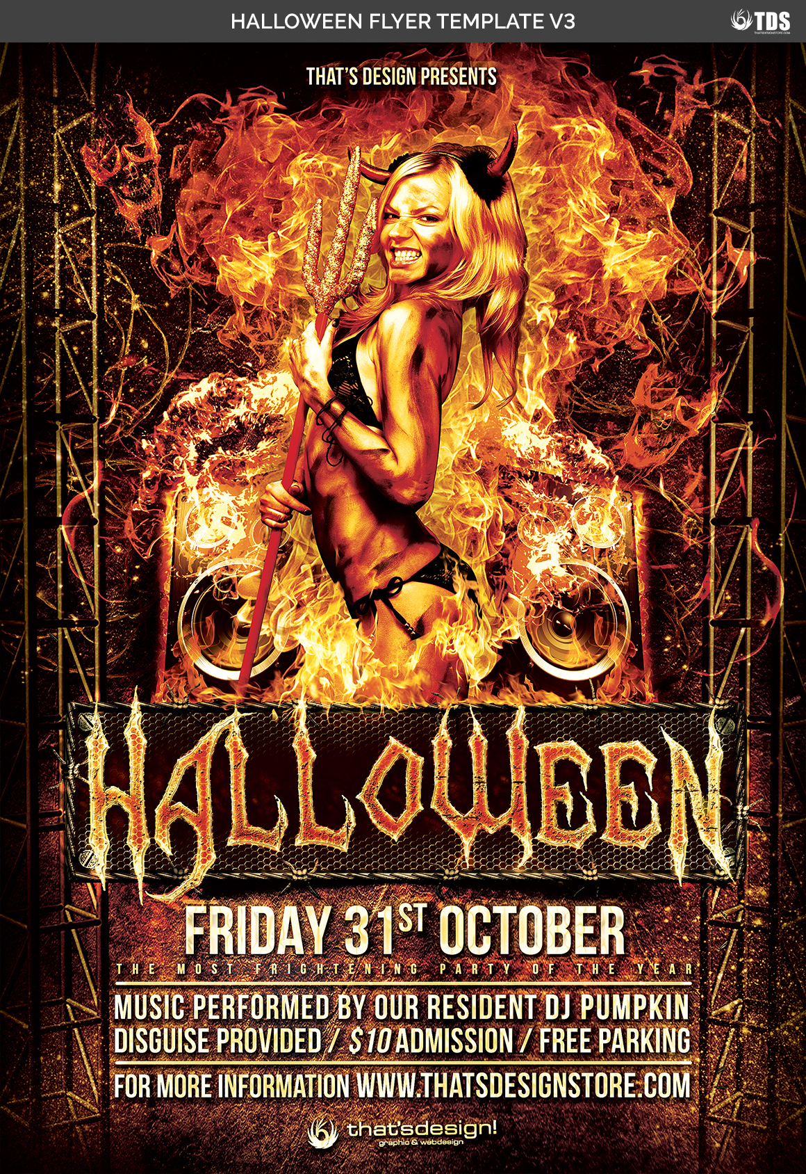 Halloween Flyer Template V3 example image 7