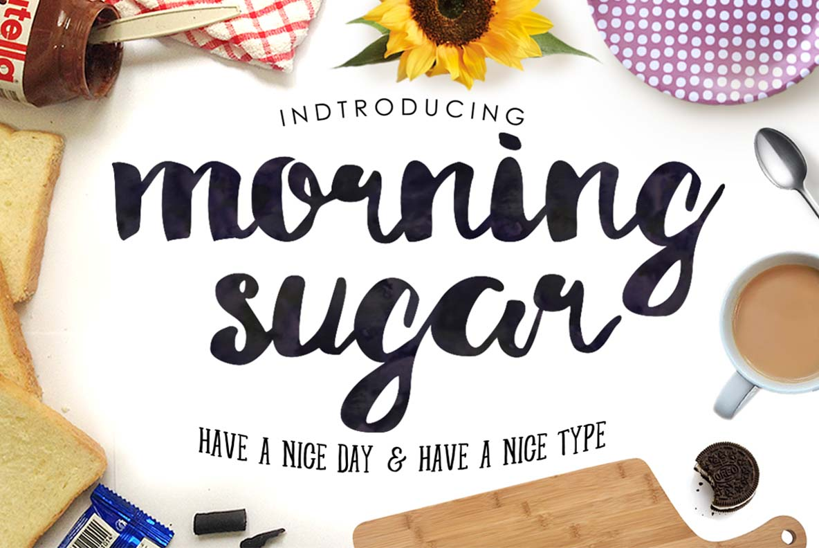 Morning Sugar Typeface + Extra ! example image 1