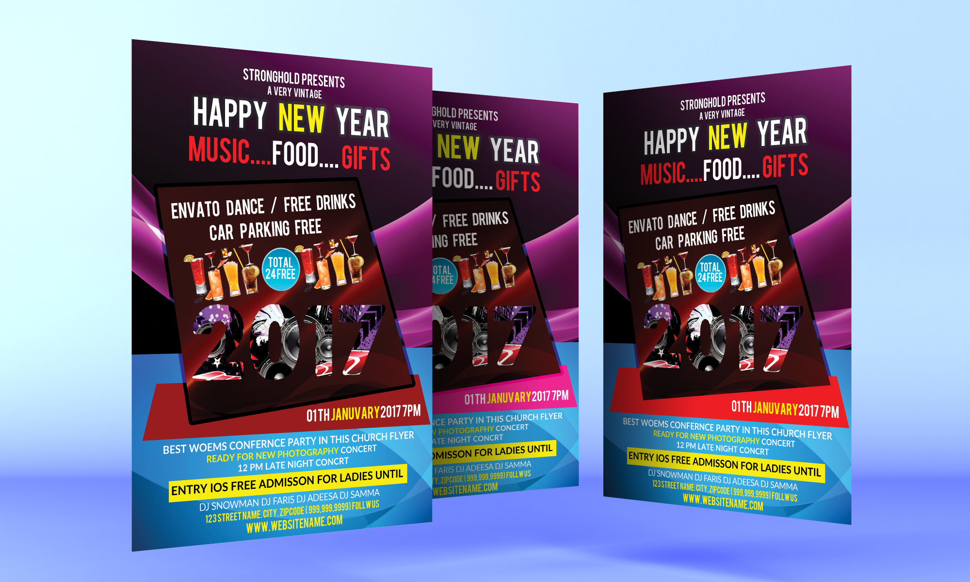 Happy New Year Flyer example image 1