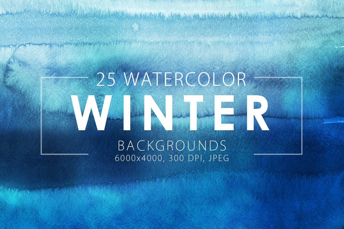 Winter Watercolor Backgrounds example image 1