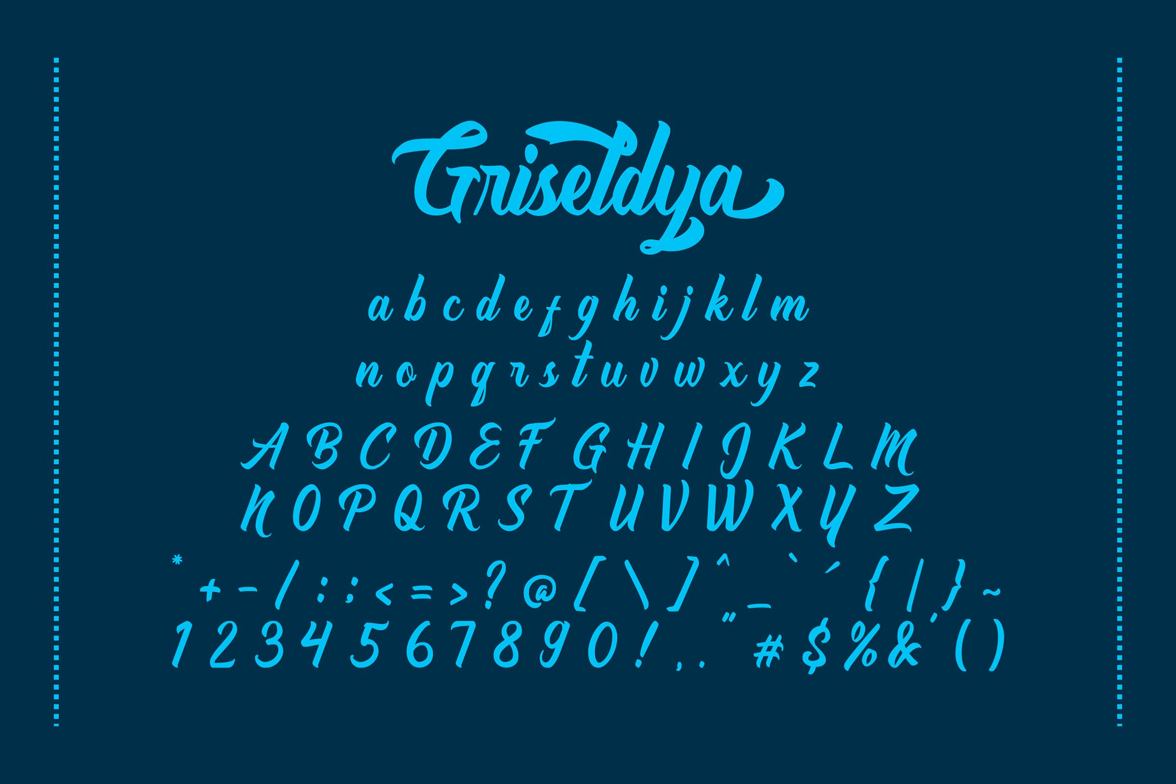 Griseldya Font example image 6