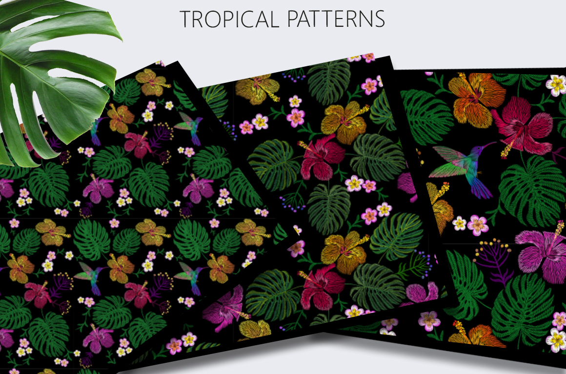 Exotic Holiday Vector Embroidery Print Set example image 2