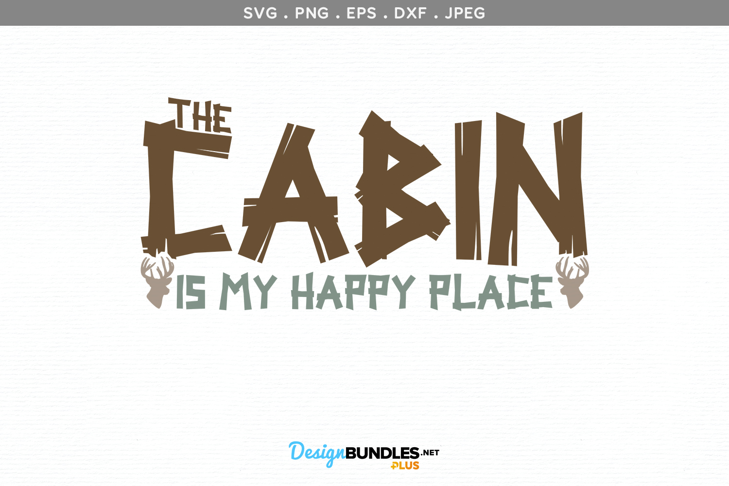 The Cabin is my Happy Place - svg & printable example image 2