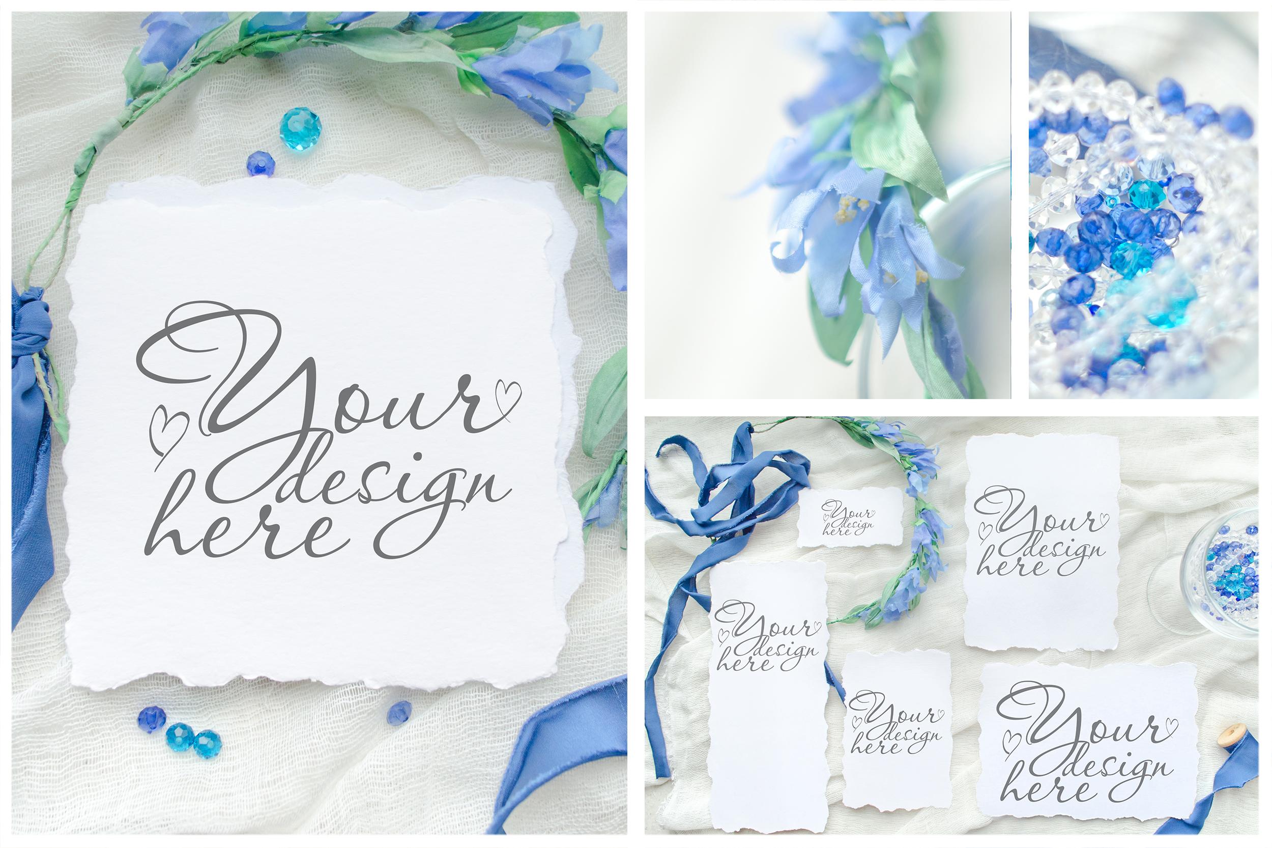 Something blue. Wedding mockups & stock photo bundle example image 12