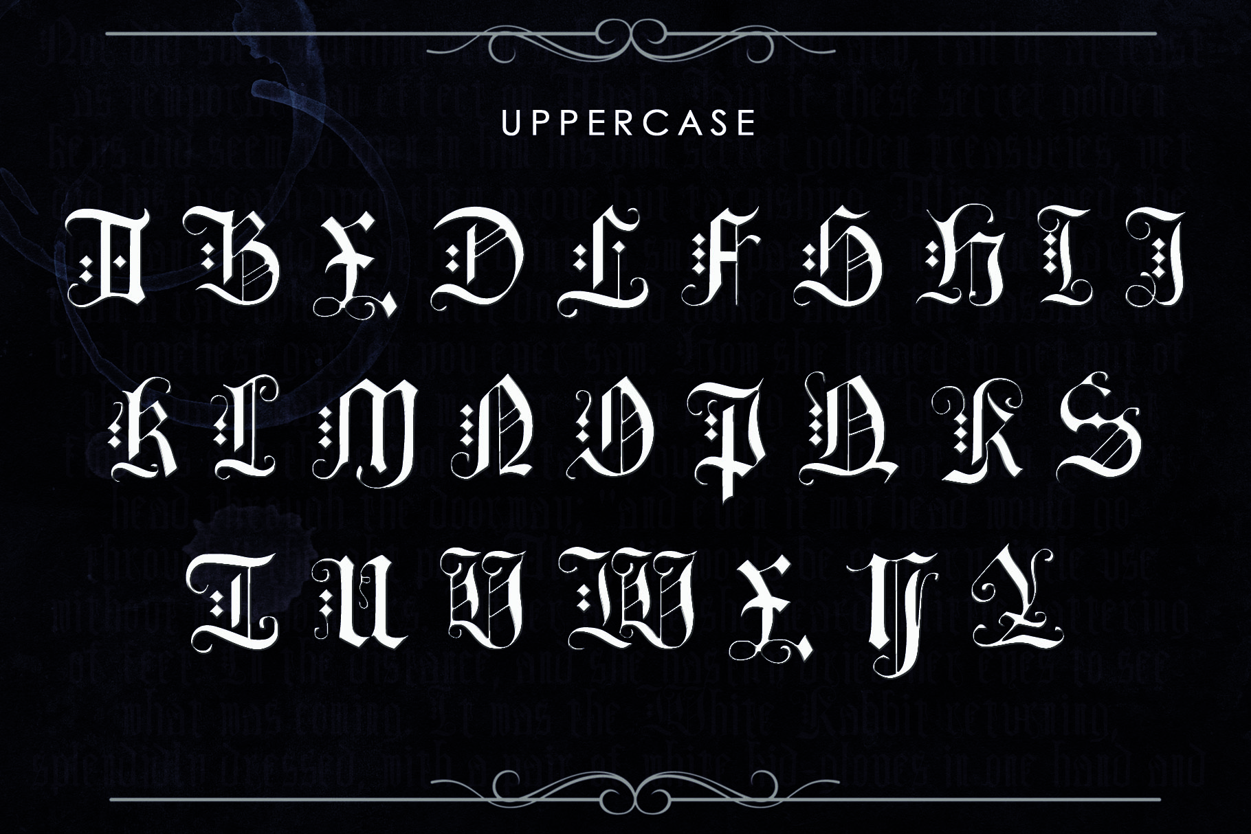 DEIMOS, a Blackletter Typeface example image 2