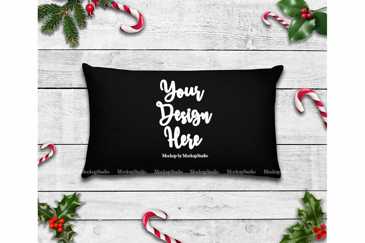 Throw Pillow Mockup Bundle 6 Images, Pillow Flat Lay Display example image 4