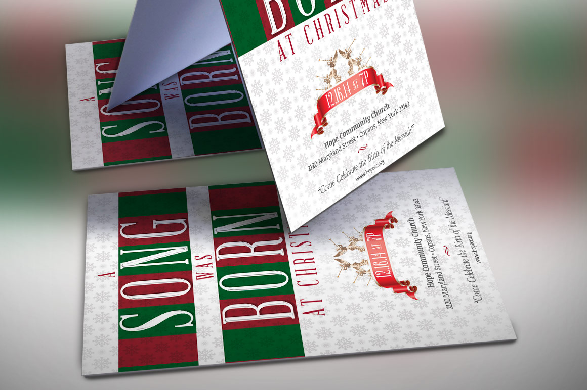 Christmas Musical Flyer Template example image 3