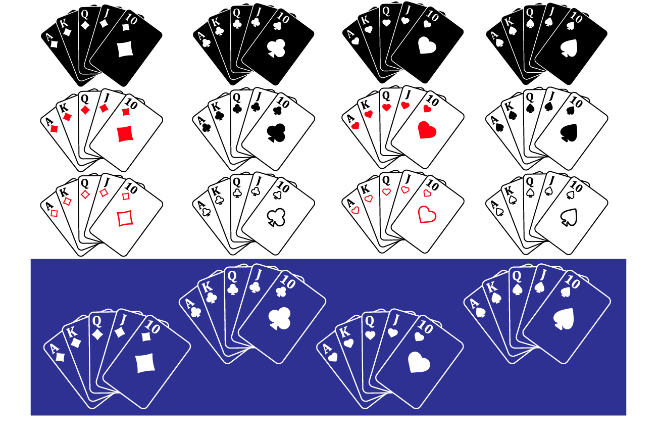 Poker Royal Flush Card Playing cards -741s example image 2
