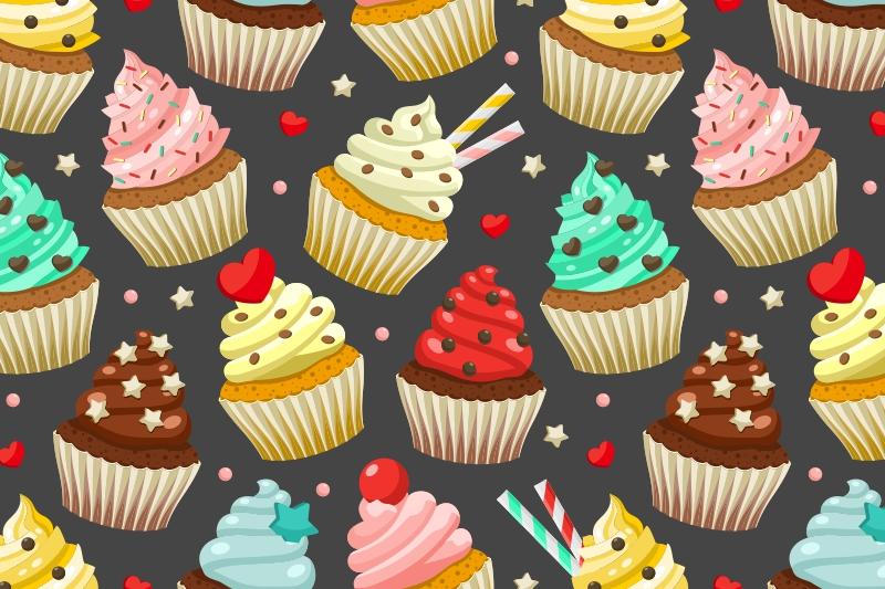 Cupcakes set & patterns example image 4