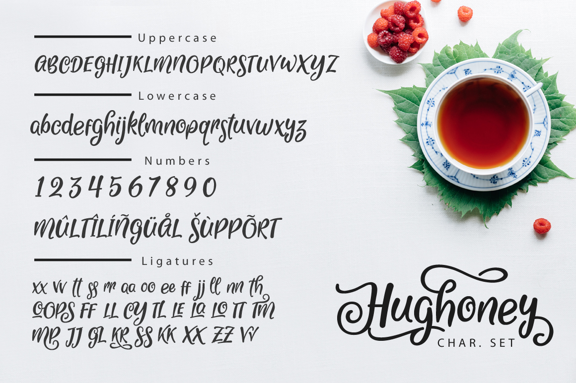 Hughoney Script example image 8