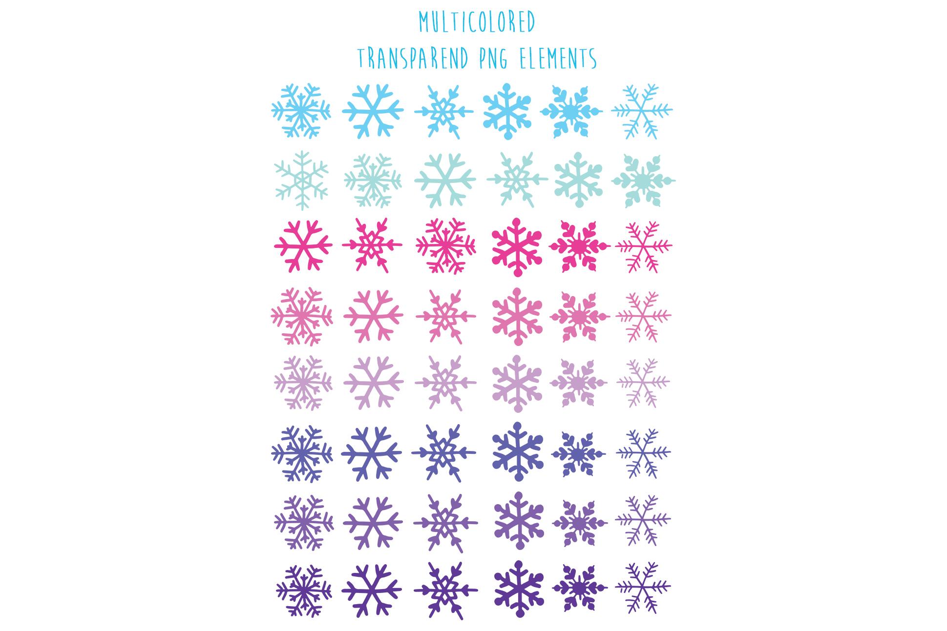 Christmas snowflakes example image 4