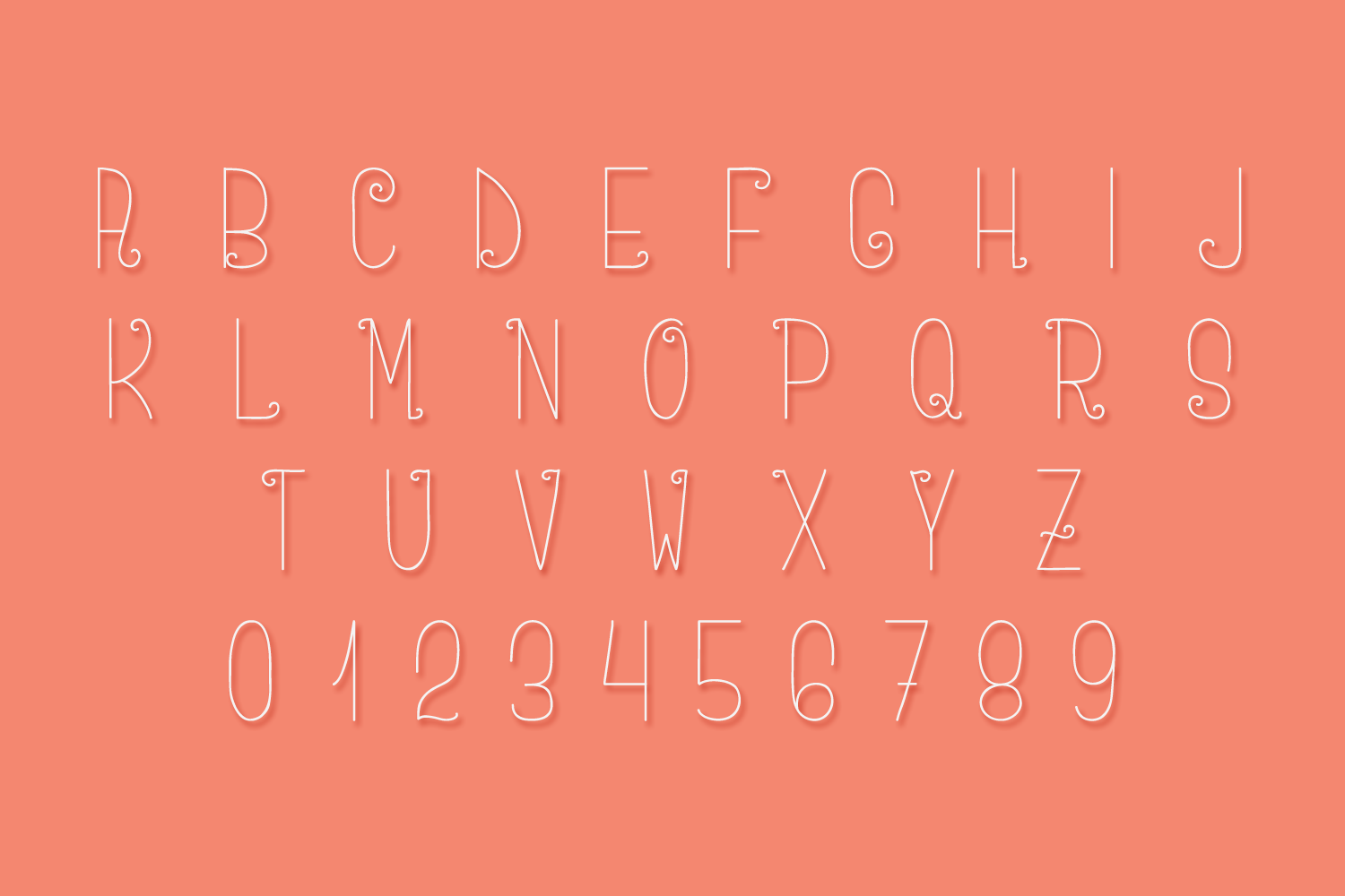 Amara - A Delicate and Curly Font example image 5