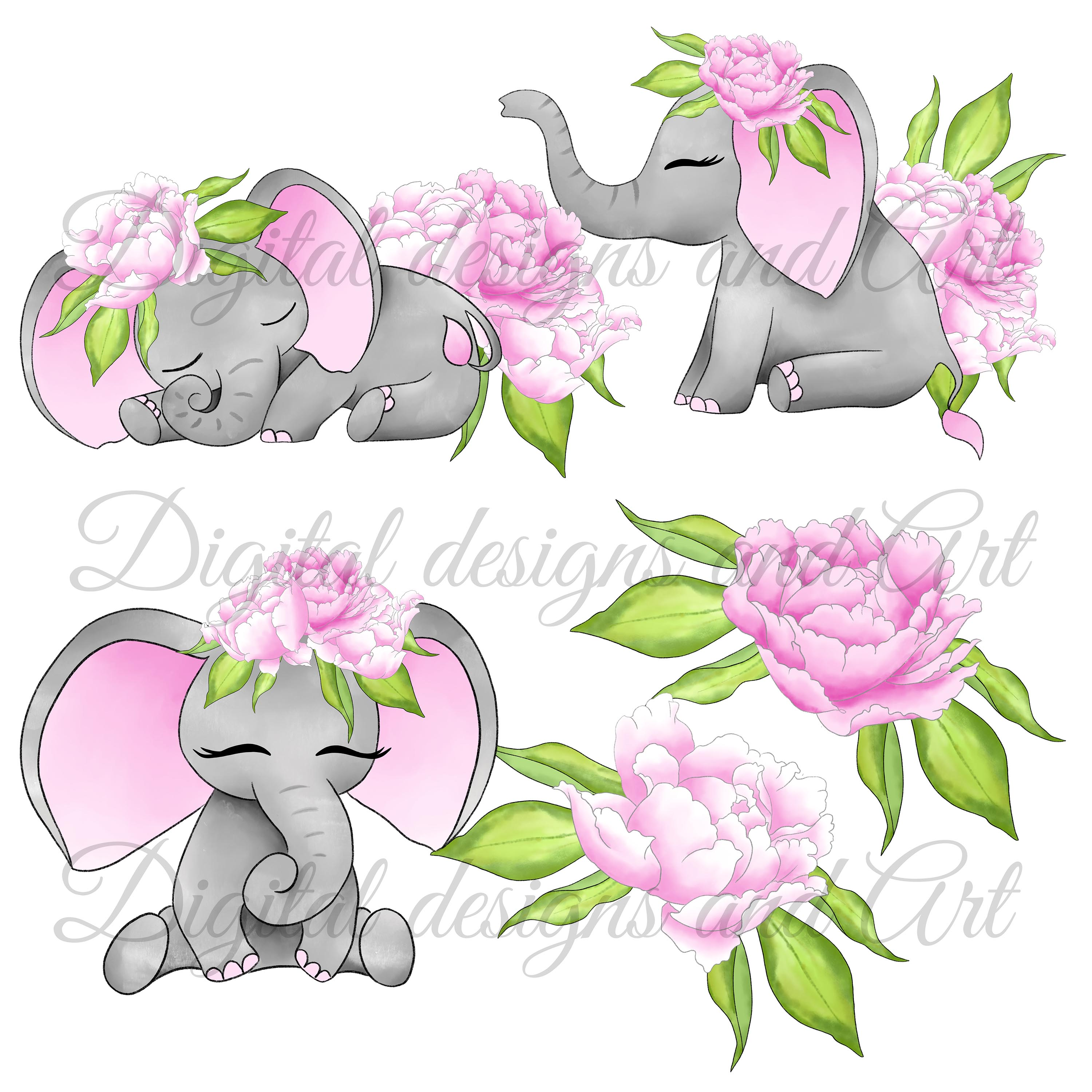 Baby elephant in pink example image 3