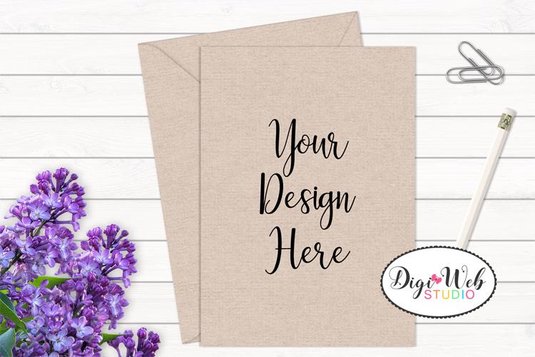Card / Invitation Mockup - Natural / Minimal w/ Flowers example image 1