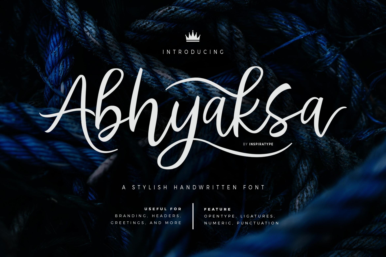 Abhyaksa Handwritten Font example image 1