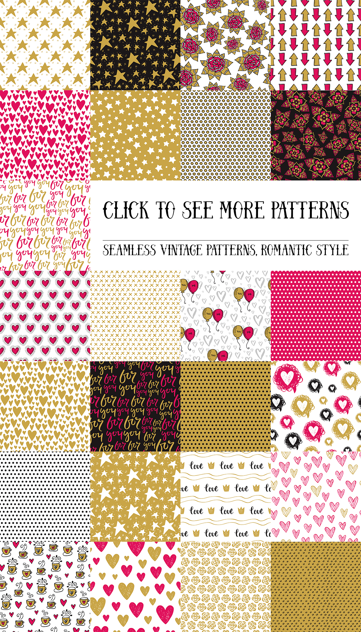 50 Valentine's Day Seamless Patterns example image 3