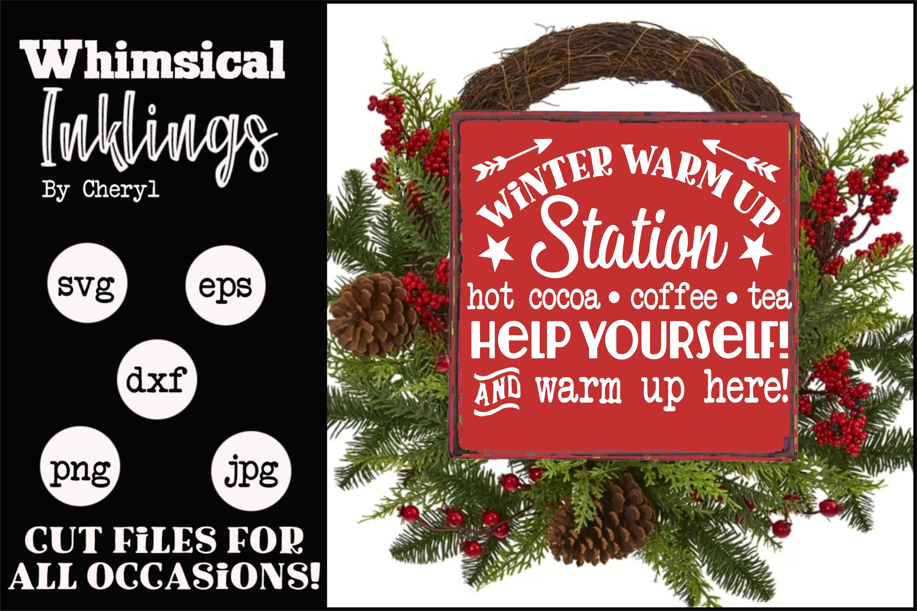 Winter Warm Up Station SVG example image 1