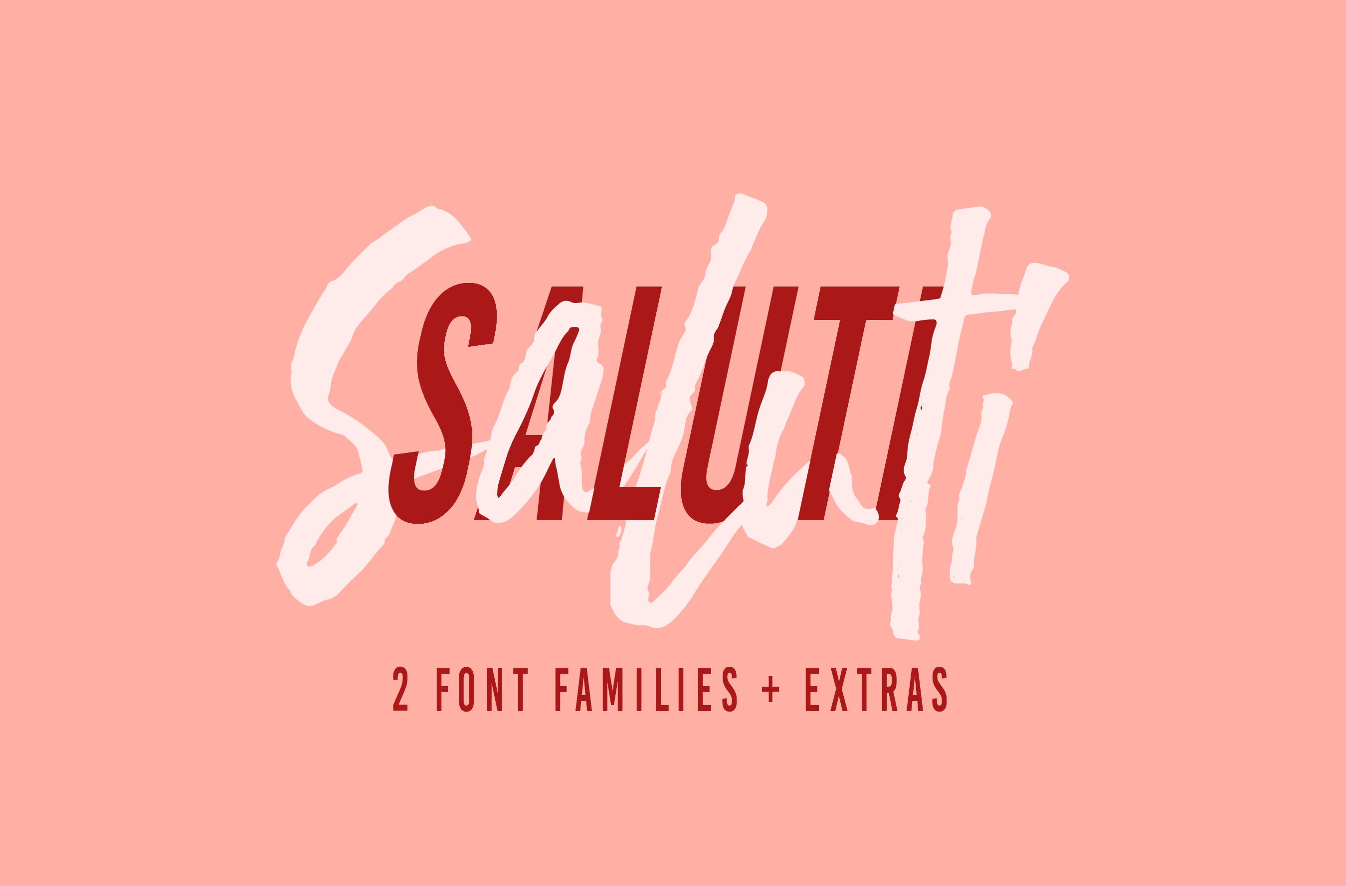 Saluti | Font Pair + Extras example image 1