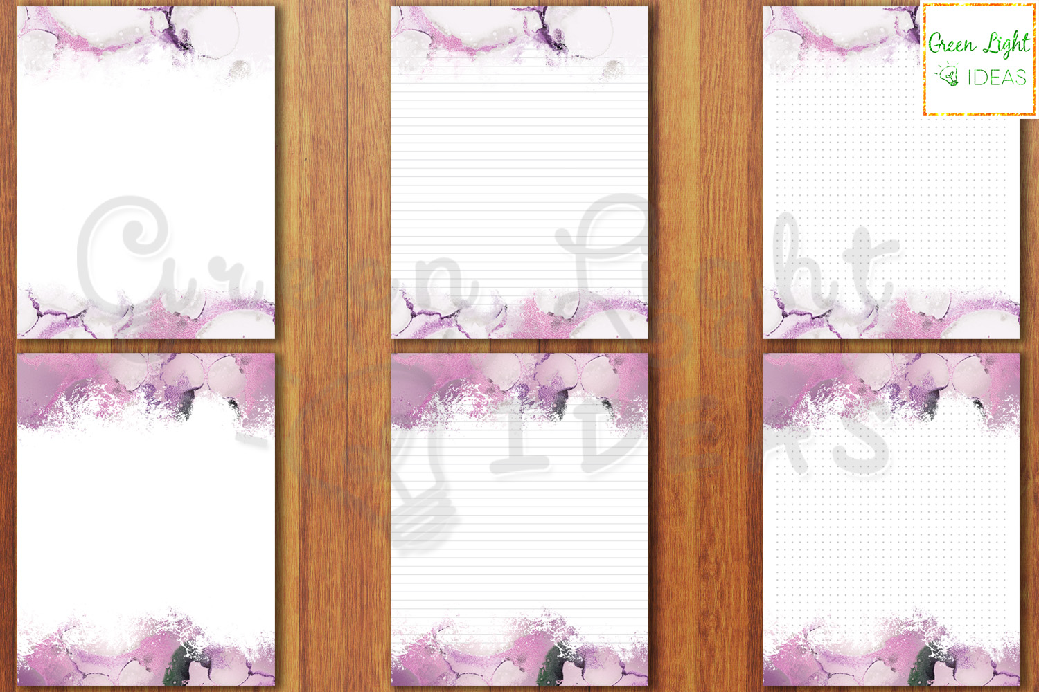 Purple Marble Writing Paper, Printable Stationery Note Paper example image 2