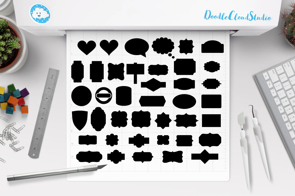 Ribbon Banner SVG, Label svg, Banner SVG files for Silhouette Cameo and Cricut. Label clipart png, Banner Clipart PNG included example image 1