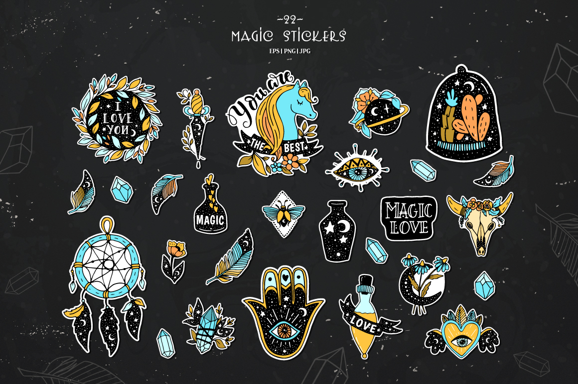 Magic stickers collection example image 3