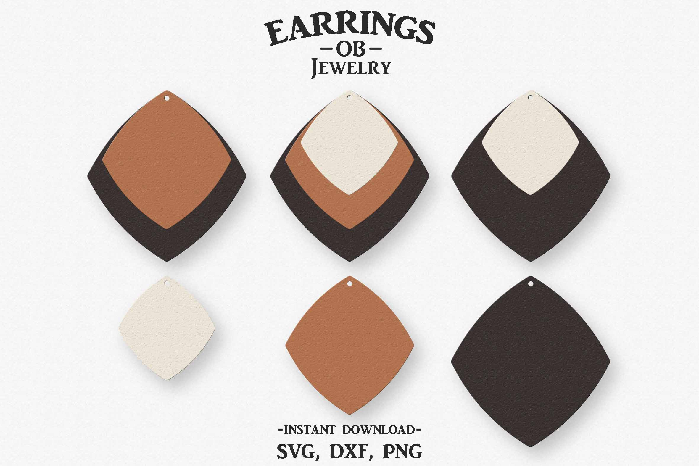 Earring Svg, Stacked, Cut File example image 1
