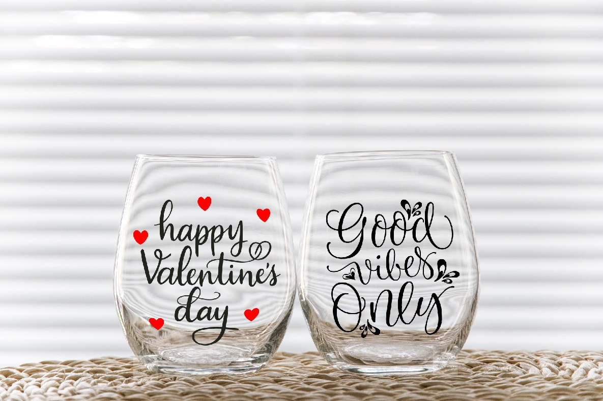 Two stemless wine glass mockups 2 no stem tumbler mockup example image 3