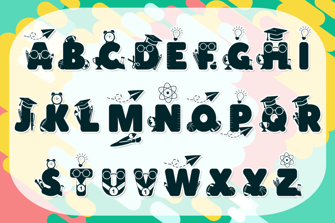 Back to School | School Font with Extras example image 2
