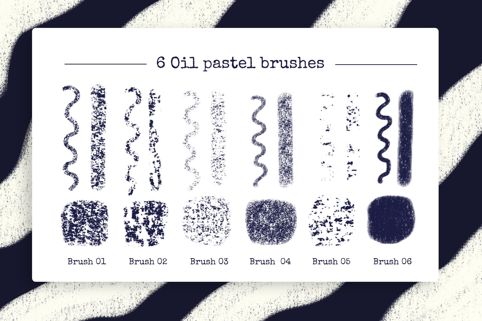 Procreate Oil Pastel Brushes example image 2