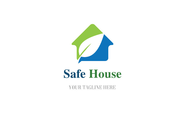 Leaf in House Logo example image 1