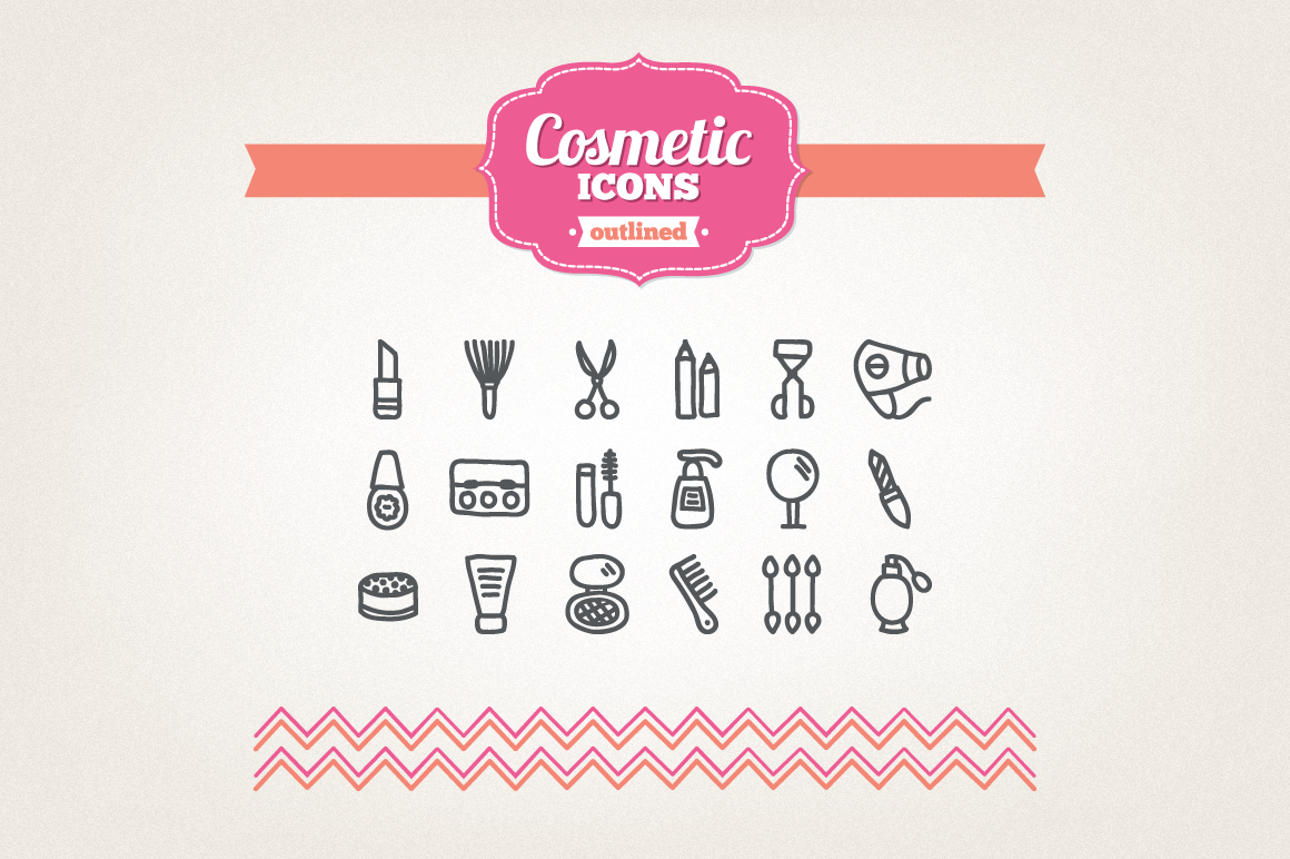 Hand Drawn Cosmetic Icons example image 1