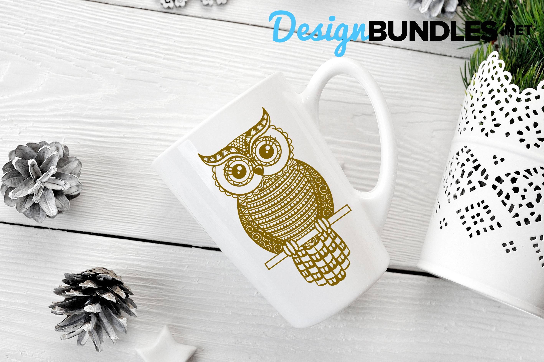 Owl paper cut design example image 3