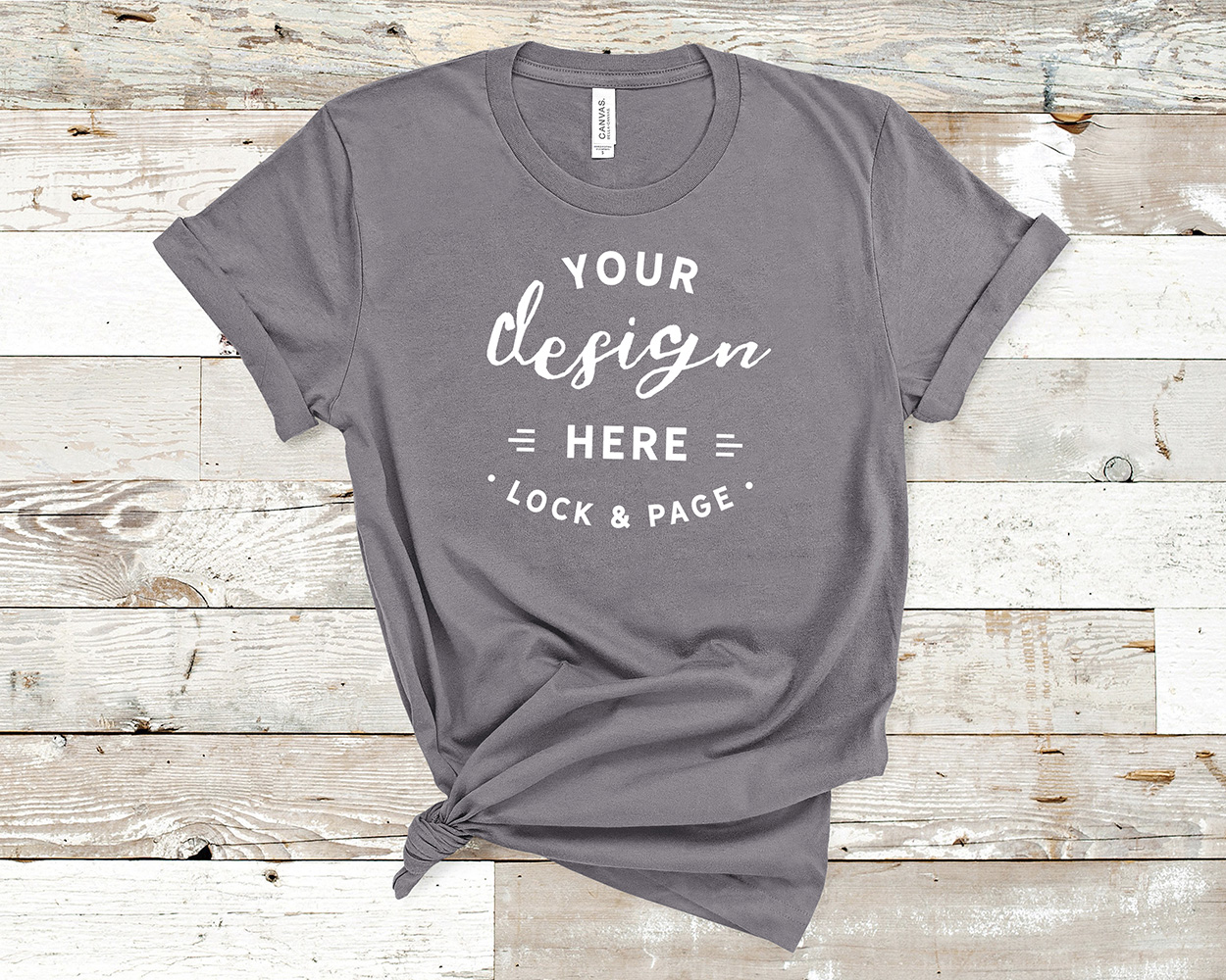 Bella Canvas 3001 Mockup T-Shirt Bundle All Colors On Wood example image 19
