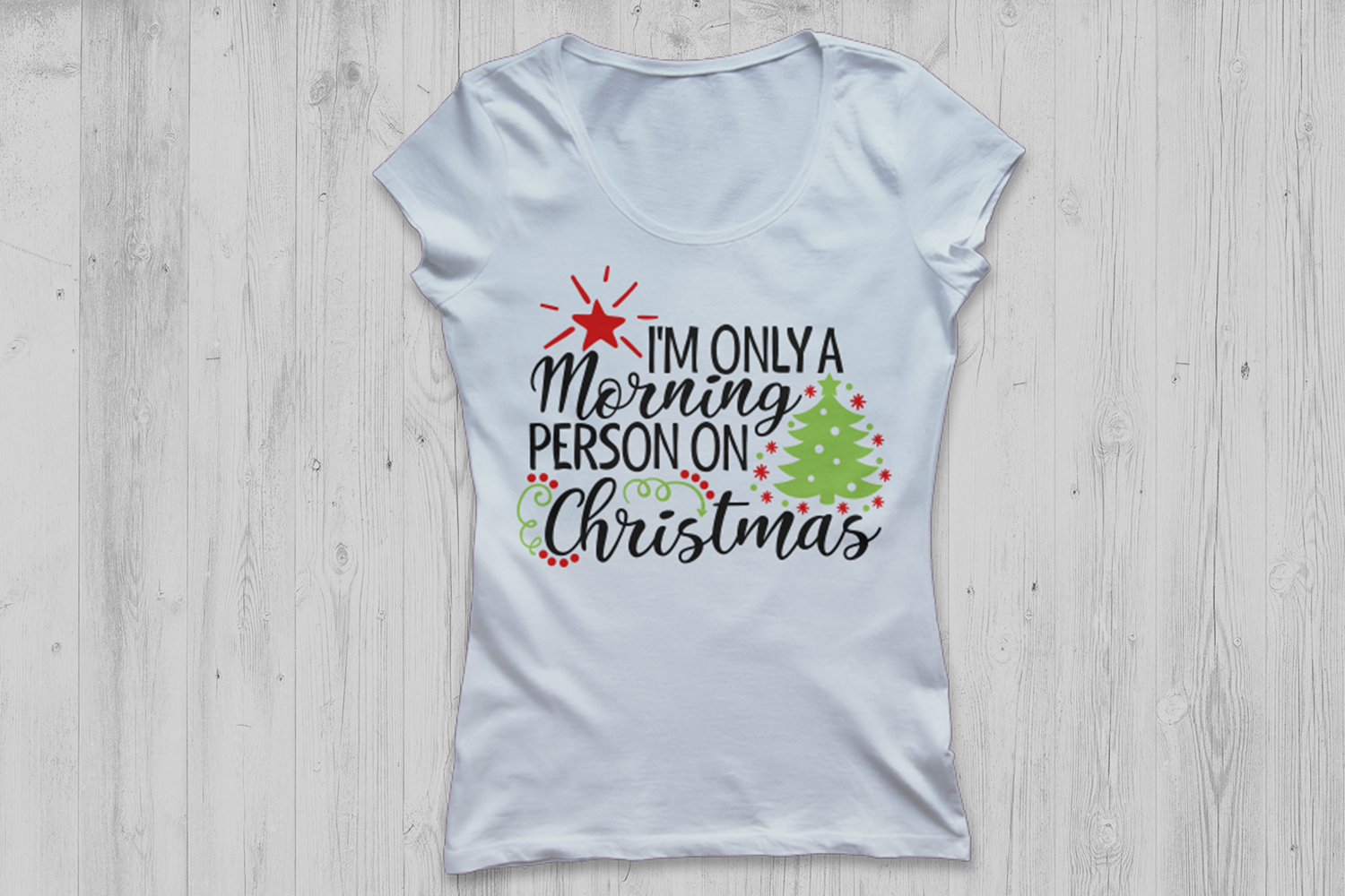Im Only A Morning Person On Christmas Svg, Christmas Svg. example image 2