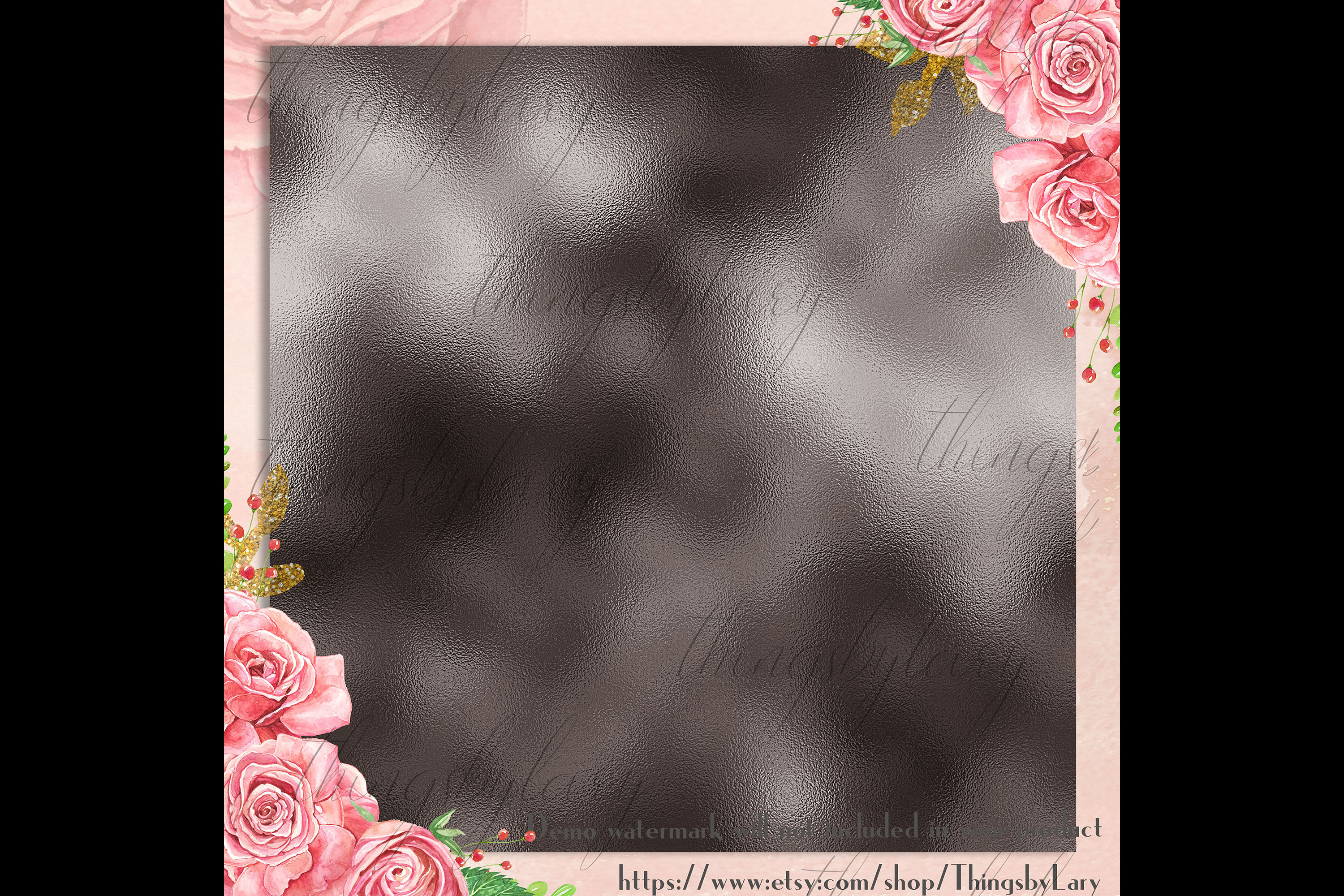 254 Soft Color Metallic Foil Texture Printable Digital Paper example image 3