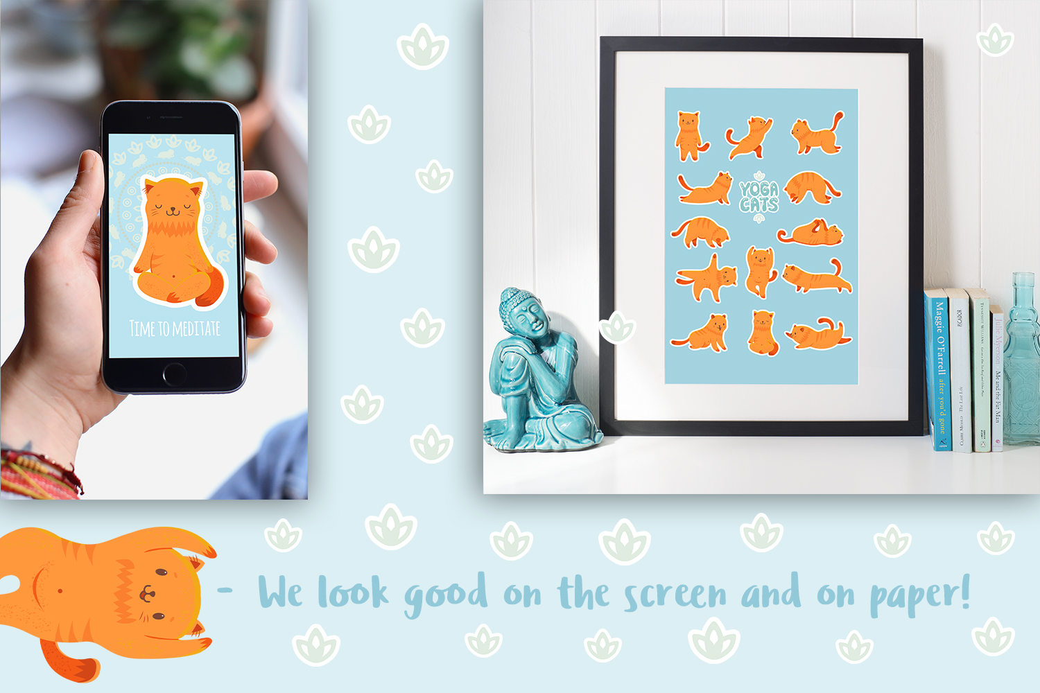 Yoga Cats Clipart Collection example image 8