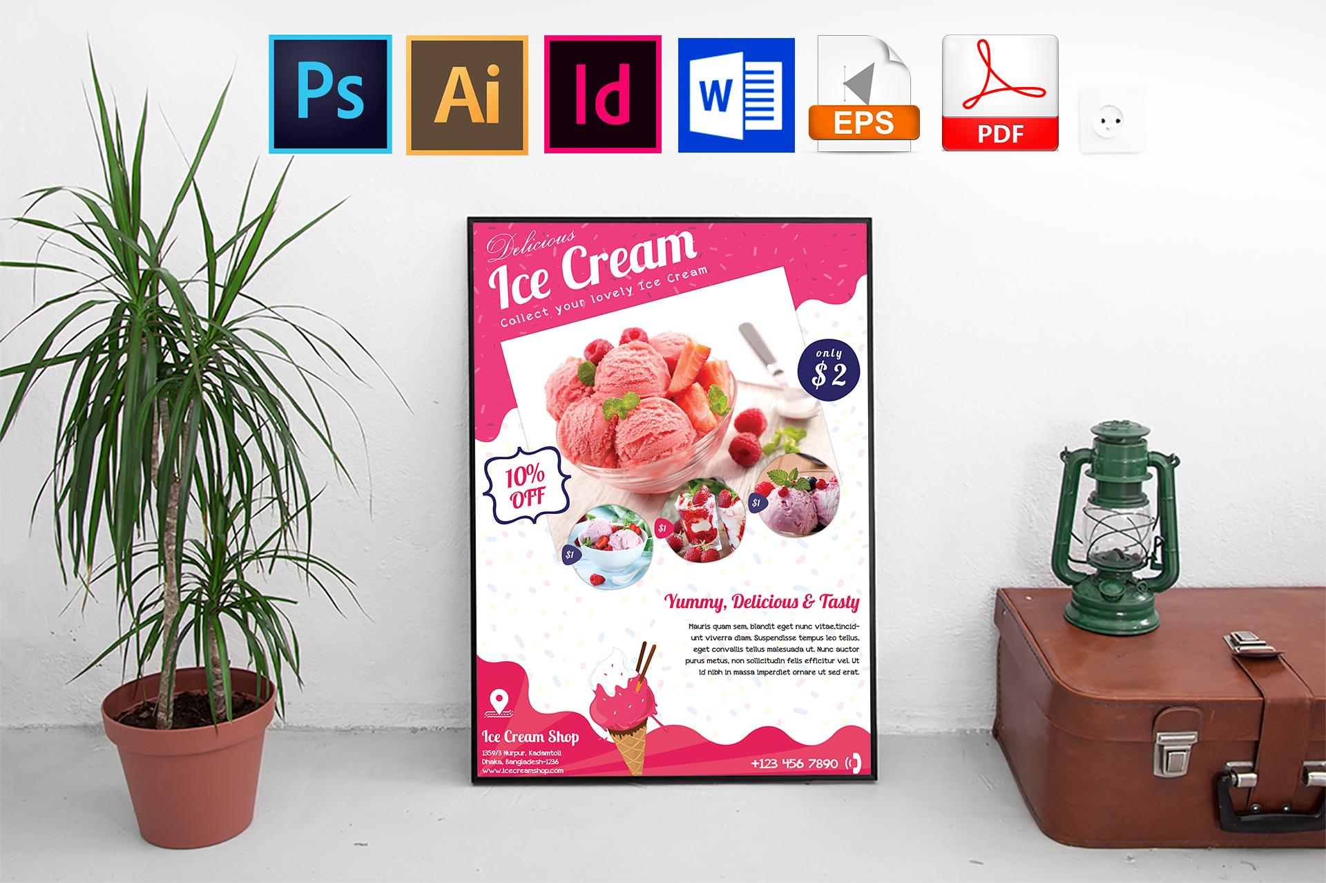 Poster | Ice Cream Shop Vol-01 example image 1