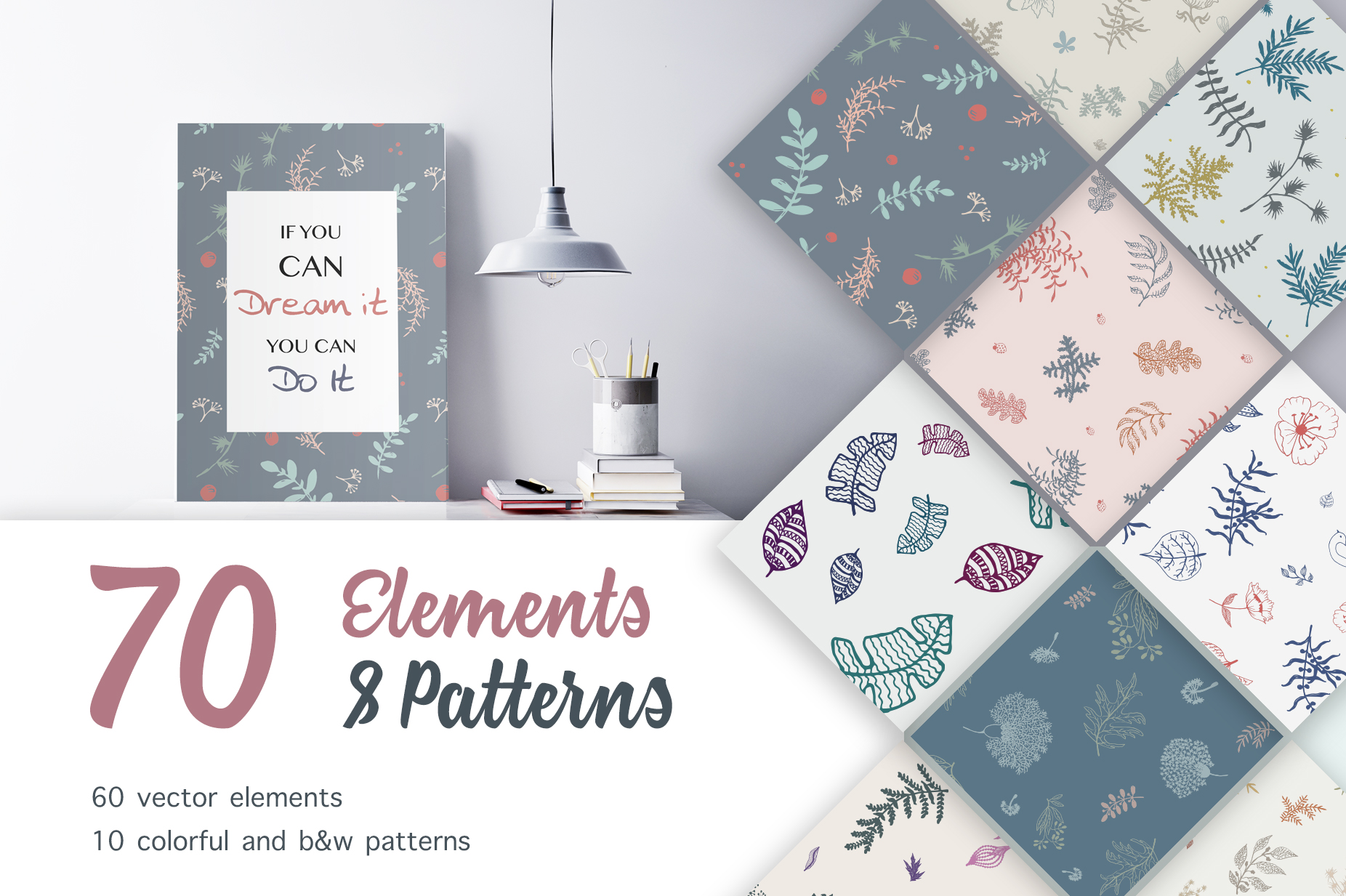 70 Wallpaper Floral Elements and Patterns example image 1