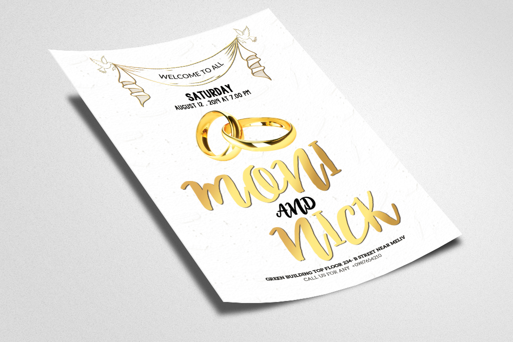 Wedding Flyer Template example image 2