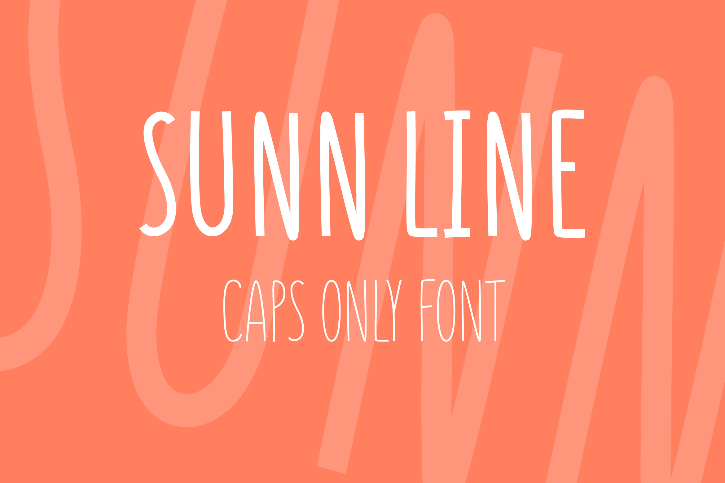 SUNN Line Caps Only Font example image 1