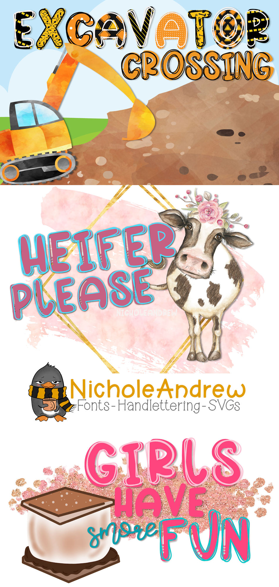 Heifer Please - A Layering Font example image 4