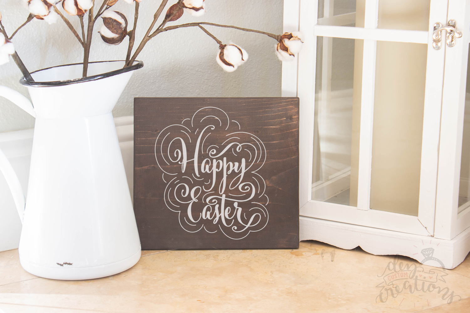 Happy Easter - Easter Design - SVG DXF PNG digital Cut files example image 3