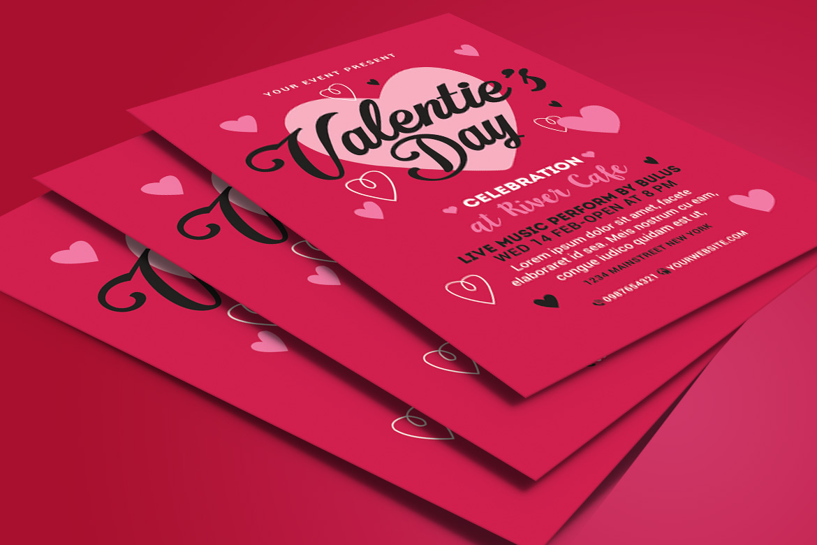 Valentines Day Flyer example image 4